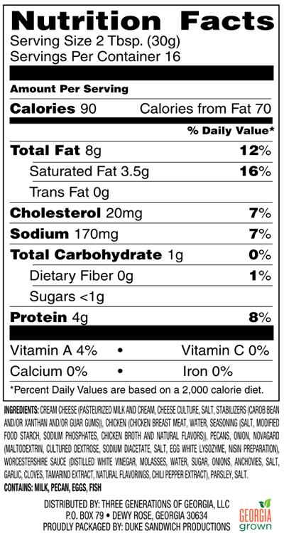 Chicken Log - Nutrition Facts